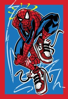 Always been a huge fan of Spiderman and im a huge sneakerhead so I kind felt obligated to do this mash-up of the the Marvels Web slinging wall crawler and a Air Jordan enjoy! Nike Wallpaper, Marvel Wallpaper, Spiderman Kunst, Sneaker Art, Basketball Art, Dope Art, Amazing Spider, Logo Nasa, Graffiti Art