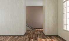 3d rendering image of a room overlooking the stairs
