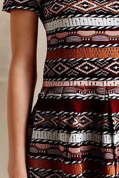 Loving this crazy print! #fashion #prints #dress #geometric #shapes #patterns