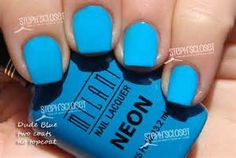 Neon Blue Nail Polish - Bing images