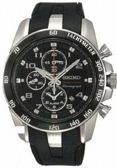Seiko Sportura Chronograph Black Dial Mens Watch SNAE87 Seiko. $285.00. Buckle Clasp. Model: SNAE87. Water Resistant: 100 Meters. Band Color: Black. Dial Color: Black. Save 40%!