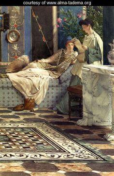 From An Absent One - Sir Lawrence Alma-Tadema - www.alma-tadema.org