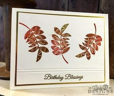 Clean and simple autumn card using Gina K Designs Stamp TV Kit, Birthday…