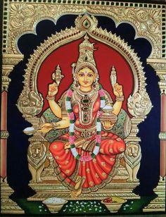 Mysore Painting, Tanjore Painting, Durga Goddess, Durga Maa, Shiva Parvati Images, Mother Goddess, God Pictures, Hindu Art, Lord Shiva