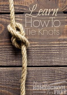 Interested in teaching survival skills?  Learn how to tie knots here!