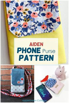 This super cool diy phone case you can make from fabric and use either as a phone bag ort a minimalistic crossbody bag - your best mini everyday bag. Get your pattern now and check out what pattern testers said about it! #diyphonecase #phonebagpattern #diyphonesleeve #cellphonepurse Cell Phone Purse, Diy Phone Case, Phone Cases, Tote Pattern, Purse Patterns, Best Bags, Cute Diys, Everyday Bag, Kids Bags