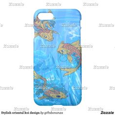 Stylish oriental koi design iPhone 7 case