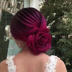 Bundle within the Type of roses, this coiffure definitely will definitely not be neglected), you'll be able to see the Video with the grasp class. Hair Up Styles, Medium Hair Styles, Natural Hair Styles, Easy Hairstyle Video, Braided Hairstyles, Rose Hairstyle, Wedding Hairstyles, Grunge Hair, Hair Videos