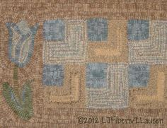 I love to work in blue & brown ~Laurie