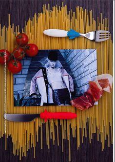 magazine: Warsawholic #6 title: Pięć smaków photo & concept: Bibi & Jacob (www.koty2.com) model: Ewa @Avant Models set design: Bibi & Jacob stylist: Kazik Stolarczyk http://www.kazikstolarczyk.com/  makeup & hair: Bibi jacket: HANGER