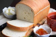 I absolutely love bread. If a restaurant serves a breadbasket before dinner I usually end up taking half my meal home because I fill myself up with bread. Homemade White Bread, Dry Yeast, Freshly Baked, Bread Baking, Meals, Recipes, Food, Baking, Meal