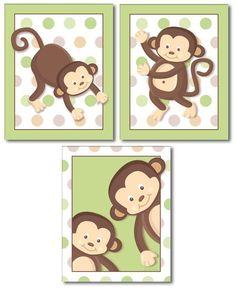 Like the monkeys....awe this was Esgar's crib set when he was born