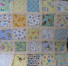 Minky and Flannel Baby Rag Quilt
