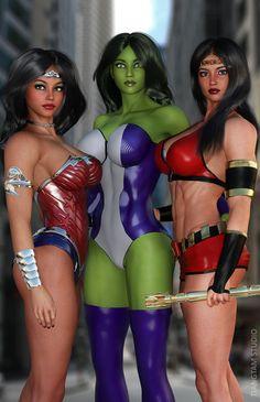 #She #Hulk #Fan #Art. (Big Girls) By:Tiangtam. ÅWESOMENESS!!!™ ÅÅÅ+