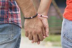 Long distance relationship bracelet gift for boyfriend couples bracelets Couple Bracelets, Black Bracelets, Cord Bracelets, Long Distance Relationship Bracelets, Amethyst Bracelet, Jade Stone, Couple Gifts, Stone Beads, Boyfriend Gifts