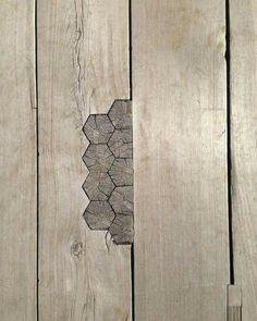 Wooden inlays in Tokyo bridge...