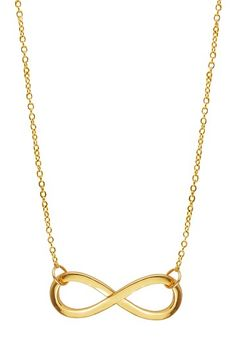 Erica Anenberg 22k gold plate Infinity Necklace; also comes in sterling silver