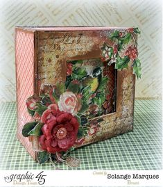 Graphic 45- Core dinations Cardstock- 12 days of Christmas Collection-mini album