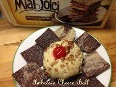 Sweet 'n' Savory Eats: Ambrosia Cheese Ball (Giant Eagle Copy Cat Recipe)