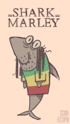 #shark #bobmarley #jamaica #reggae