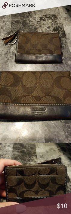 Coach Card Holder Good used condition. Coach Accessories Key & Card Holders
