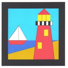 Lighthouse Quilt Block Pattern by lindabartlett on Etsy, $7.50
