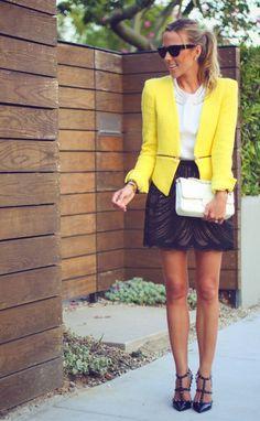 Love this yellow blazer!!