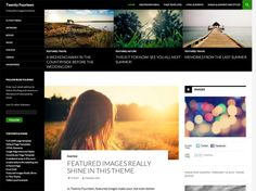 WordPress : #TwentyFourteen   Say hello to the default theme for 2014, a magazine theme with a sleek, modern, and beautifully crafted #responsive design.
