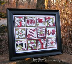 "Eileen's ""Stampin' Fever"" Blog: ""Joy"" Collage - See blog posting for list of supplies"