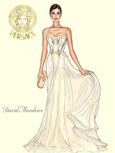 David Mandeiro Fashion Illustrator ~ Versace