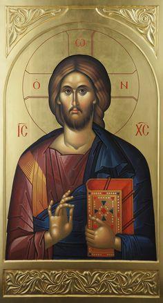IC-XC Pantocrator / Iisus Hristos Pantocrator, Catedrala Mitropolitana, Iasi - Ierom. Mihail