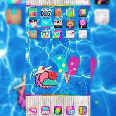 #myscreenoftheday #rosemary #golauncher #theme by @gabbell_iphonemizee #free #summer #wall by…
