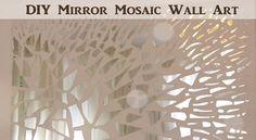 Diy broken mirror wall decor extremely creative mosaic mirror wall decor canvas video diy on diy Mirror Wall Art, Mosaic Wall Art, Mirror Mosaic, Glass Wall Art, Hanging Wall Art, Diy Wall Art, Mosaic Glass, Wall Decor, Mirror Glass