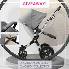We're giving away a Bugaboo Cameleon3 Classic+ Stroller in Grey Melange! A true classic, now in a new coat. The off-white, micro-fleece quilted lining makes the interior nice and cozy