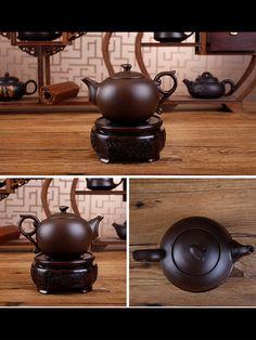 Chinese Simple Style Cinnabar Tea Pot