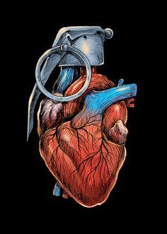 lesstalkmoreillustration: CarbineHEART GRENADE