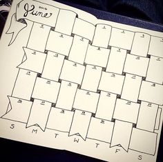 Bullet Journal Monthly Calendar