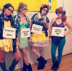 "Hipster Disney Princesses Halloween - Pretty good. Hipster Belle needs some leggings, though. She looks a little too much like she's trying to put out the ""sexy Halloween"" vibe."
