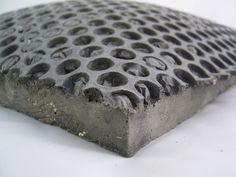 Concrete moulded on bubble wrap