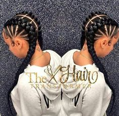 35 Cornrow Hairstyles The number styles you can create with cornrows are limitless! Read on our cornrows guide with conrow hairstyles inspiration and different looks you can create. Cute Cornrows, 4 Cornrows Braids, Curly Hair Styles, Natural Hair Styles, Goddess Braids, Beautiful Braids, Girls Braids, Black Girls Hairstyles, Layered Hairstyles