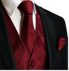 red & black silk waistcoat with roses groom - Google Search