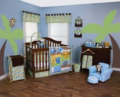 Shop for Trend Lab Riley Tiger and Friends Crib Bedding Set. Get free delivery On EVERYTHING* Overstock - Your Online Baby Bedding Shop! Blue Bedding Sets, Baby Crib Bedding Sets, Bedding Shop, Baby Boy Nurseries, Baby Cribs, Baby Rooms, D Lab, Baby Apps, Custom Baby Bedding