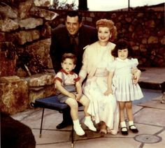 Lucille Ball and Desi Arnaz with their children Desi Jr & Lucie