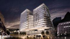 Cannon Design divulga projeto de complexo com hospital oncológico e habitação social no Rio de Janeiro