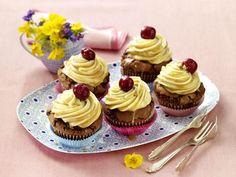Kirsch-Karamell-Cupcakes