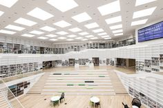 Built by ADEPT in Falun, Sweden with date 2014. Images by Kaare Viemose. Dalarna Media Library is organized as a 'spiral of knowledge' identifying a new library culture that stages a wide ra...
