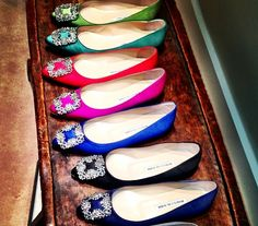 Love Manolo Blahnik  Rainbow Shoes