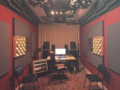 59 super ideas music room layout home recording studios Music Studio Decor, Home Studio Setup, Home Studio Music, Studio Ideas, Home Recording Studio Equipment, Recording Studio Design, Audio Studio, Sound Studio, Home Music