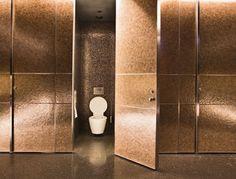 Public restroom design- A little intense but I like the full doors