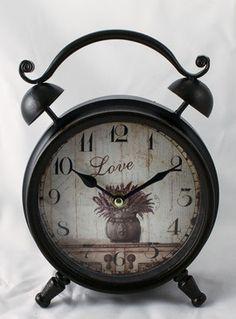 "ceas de masa retro ""Lavanda"" Alarm Clock, Retro, Home Decor, Projection Alarm Clock, Decoration Home, Room Decor, Alarm Clocks, Retro Illustration, Home Interior Design"